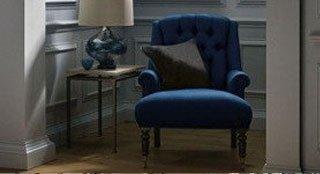 blue single sofa chair