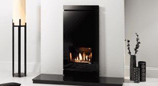 hearth mounted gas fire