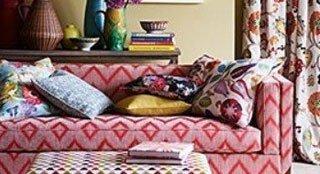 sofa and cushions