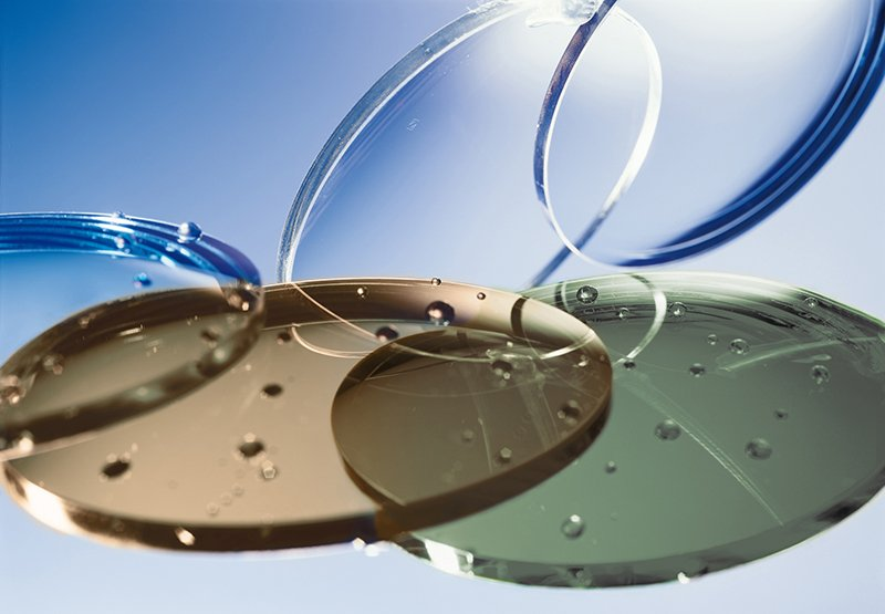 vetri per lenti da occhiali in vari colori
