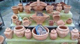 terracotta pots, garden furniture, gazebo
