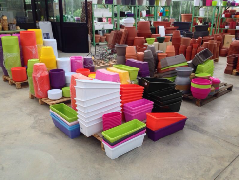 Coloured pots to decorate your garden or your terrace