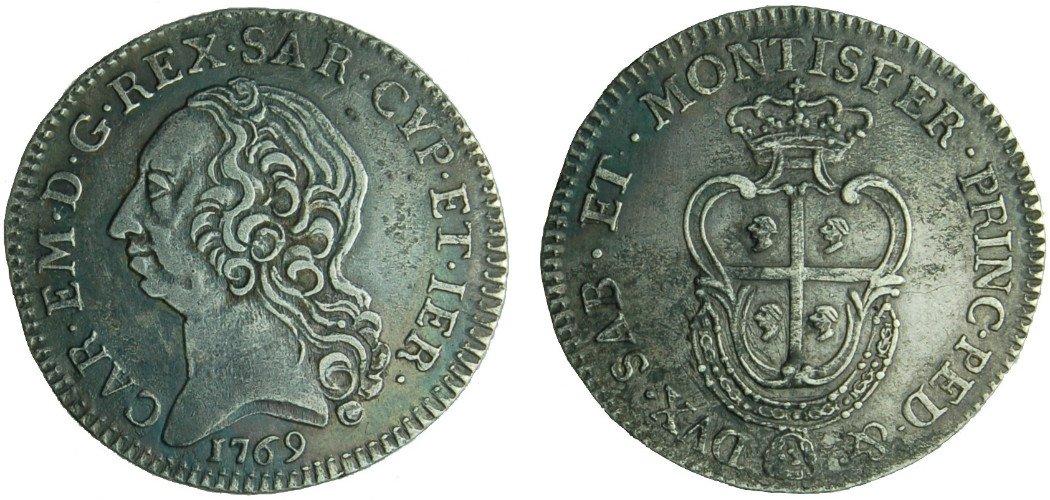 due monete antiche del 1769