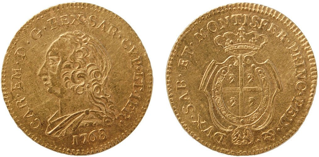 due monete antiche del 1768