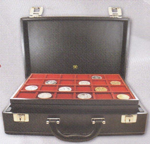 una valigetta con delle monete
