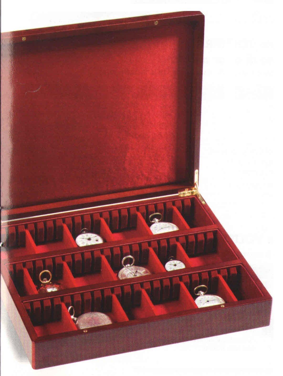 una valigetta con dentro degli orologi