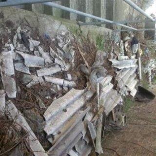 terreno inquinato da lastre