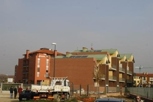 edifici con pannelli