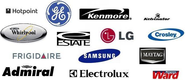 Logos for Hotpoint, GE, Kenmore Whirlpool, Maytag and more