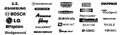 We service GE, Westinhouse Samsung, Amana, LG, Kenmore, Frigidaire and more brands