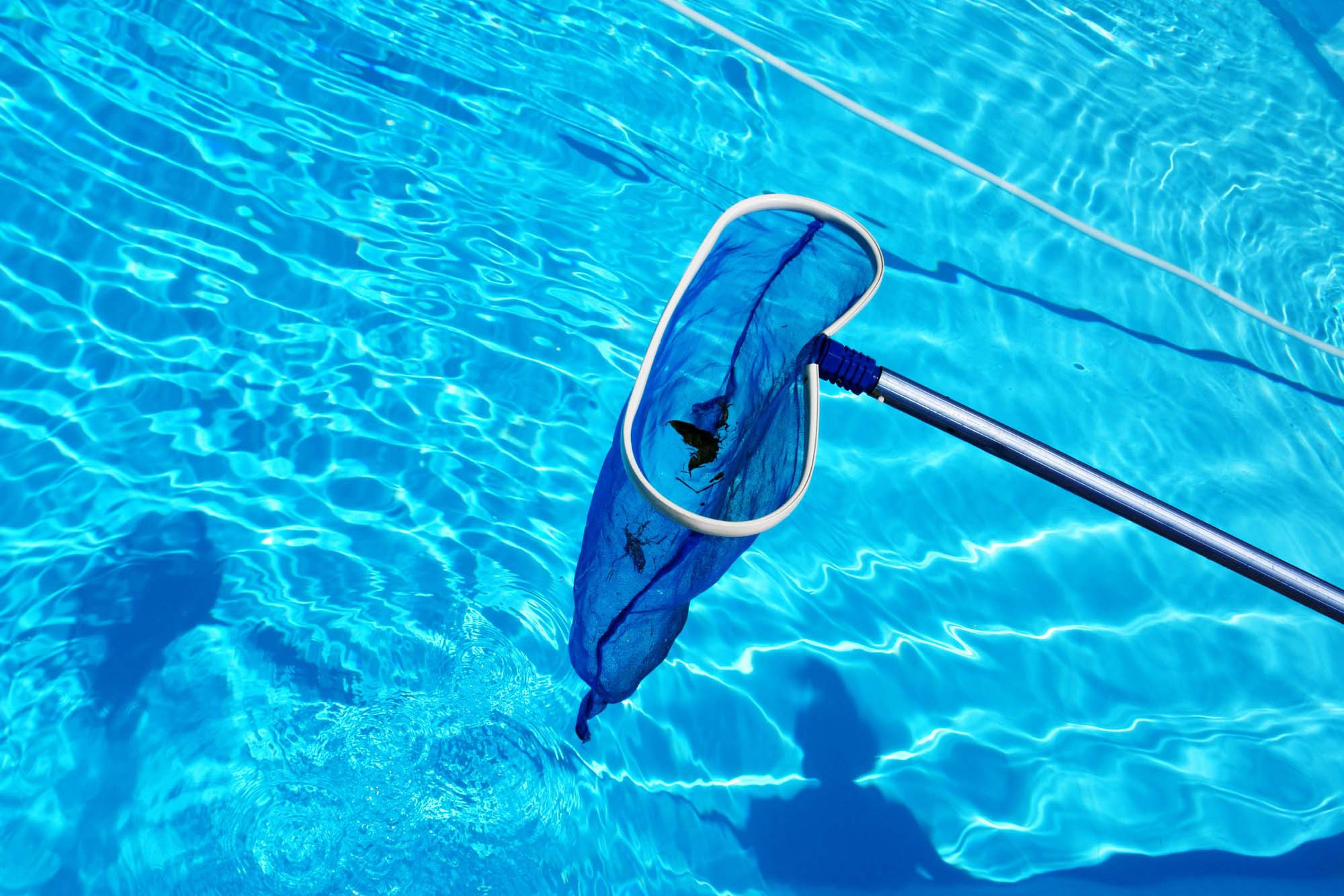 A pool net used as a part of our pool maintenance service in Watertown, CT