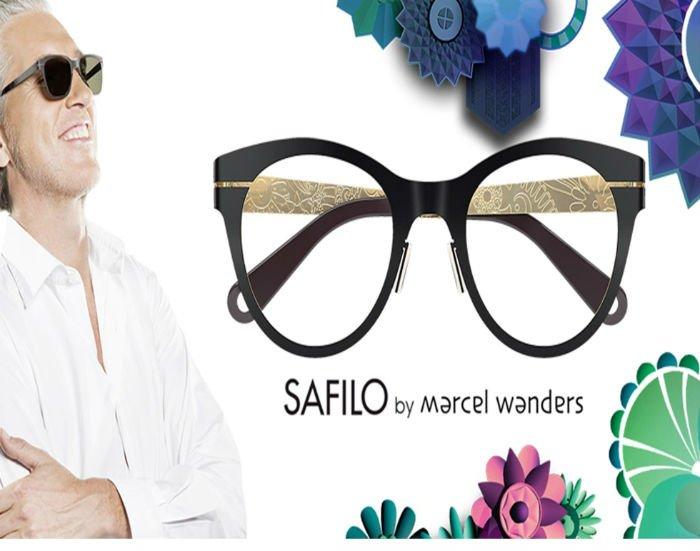 Pubblicità di un paio di occhiali da vista marchio Safilo