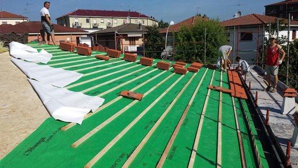 rifacimento copertura tetto villetta