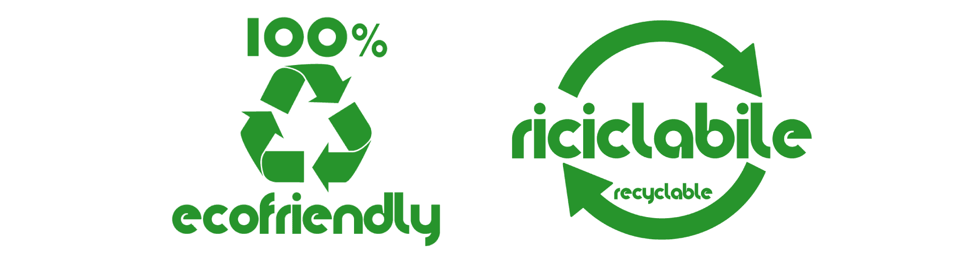 logo 100% ecofriendly - riciclabile