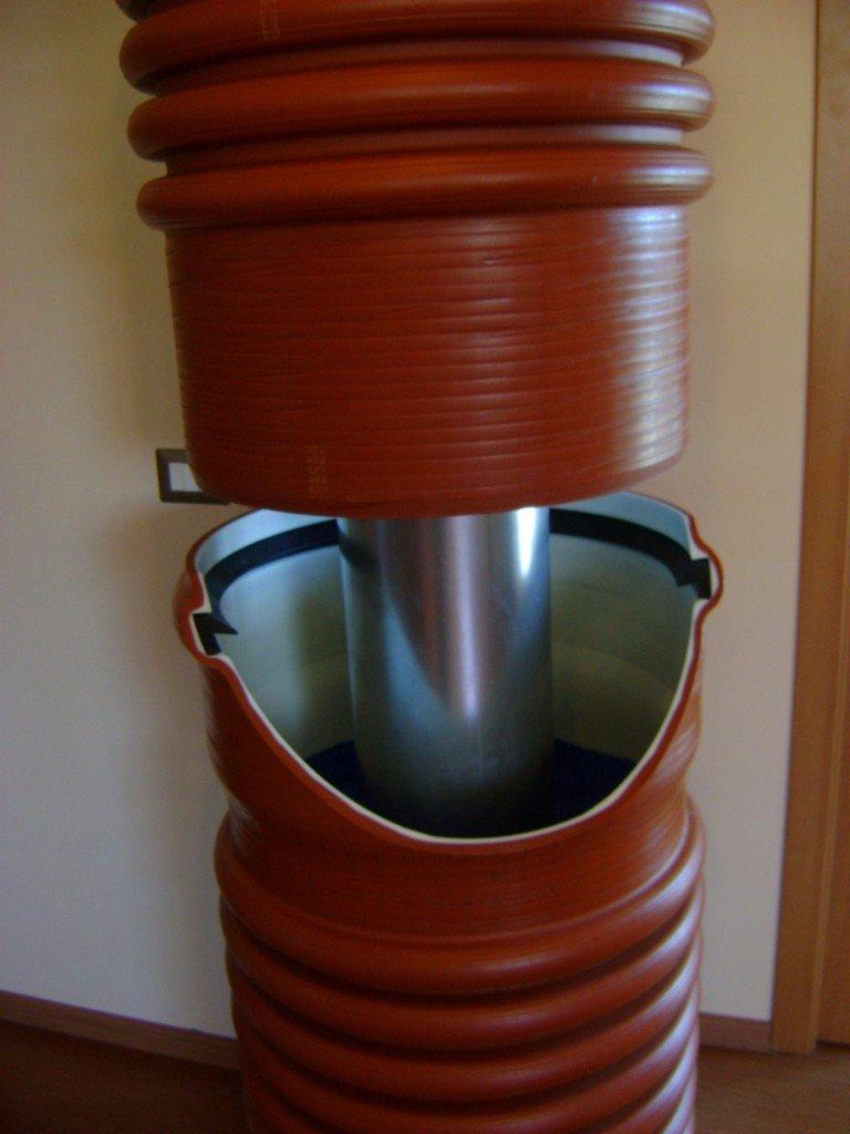 Il sistema di giunzione di Sedici Plus con sezione parziale del bicchiere