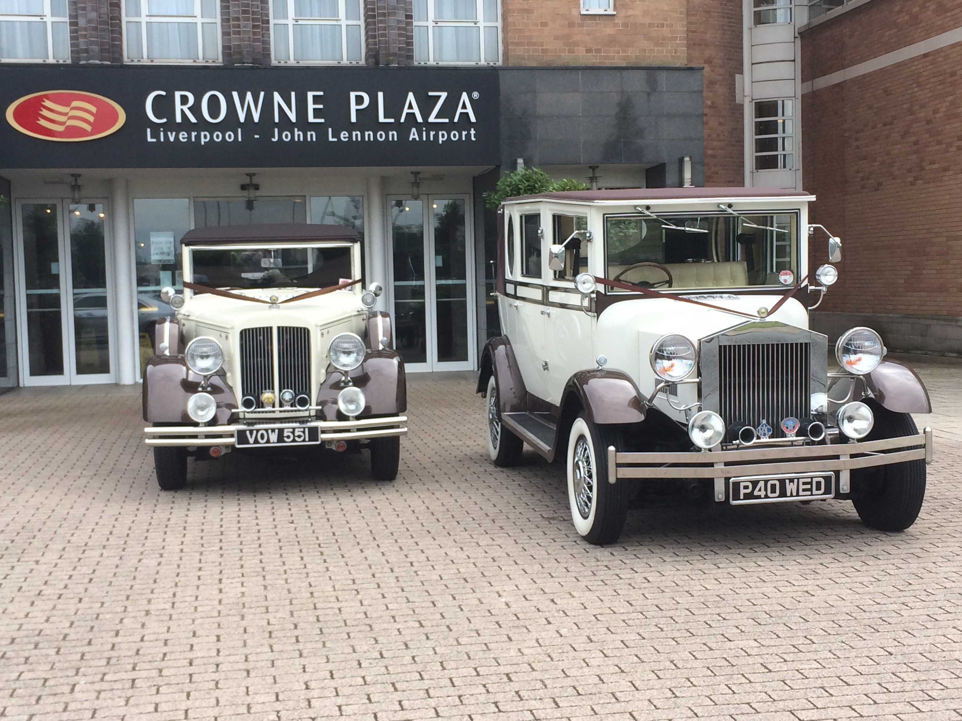 Our fleet of vintage cars