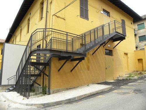 scale in ferro a Spoleto