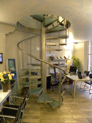 scala a chiocciola a Spoleto