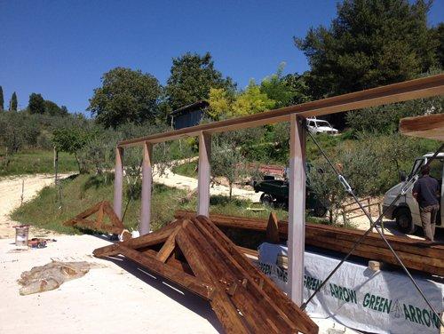 costruzione cancello a Spoleto
