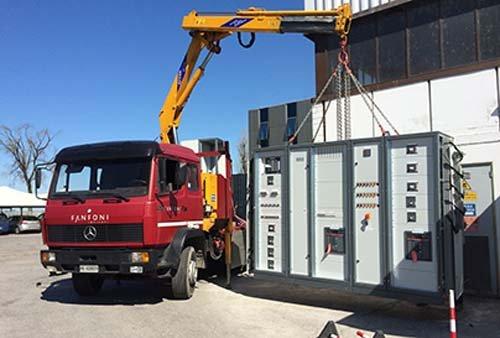 Sollevamento impianto presso Collecchio