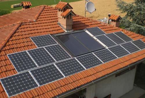 panelli solari sul tetto