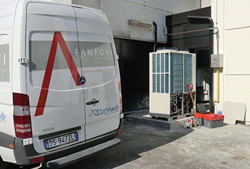 camion per impianto di riscaldamento e climatizzazione
