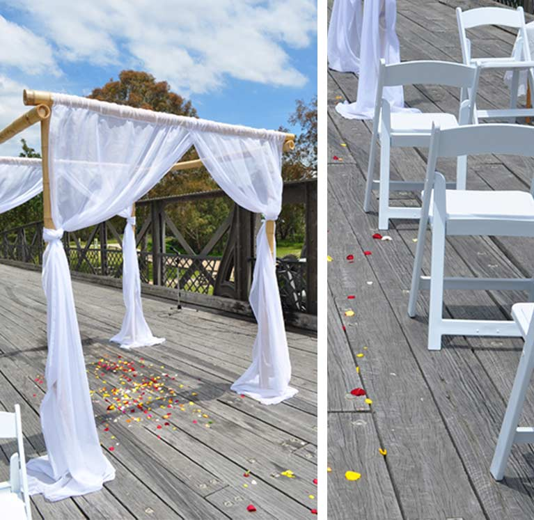Wedding Arbour and Chair Hire