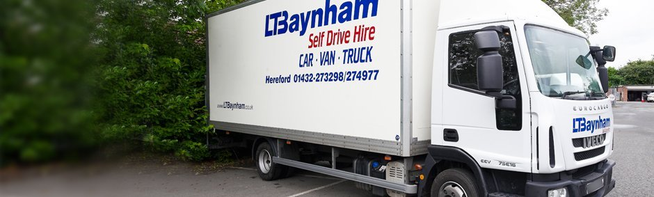 close up an L T Baynham truck rental option for hereford
