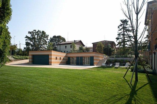 giardino privato di una casa