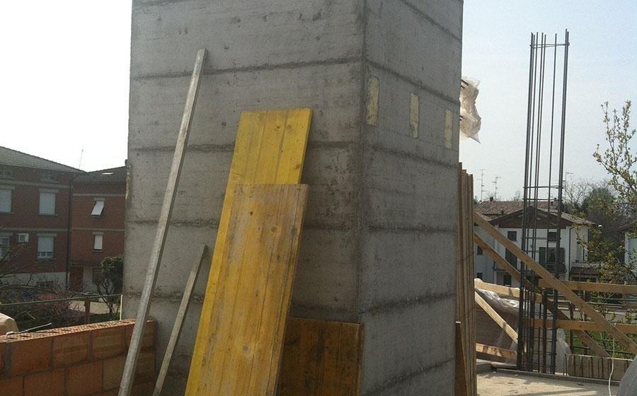 cantiere edile per la costruzione di edifici