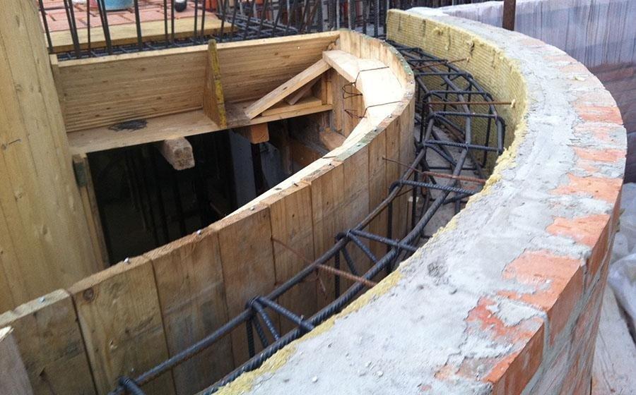 particolare della progettazione di un opera edile