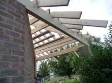 Wooden beams for roofs