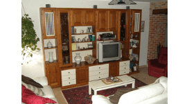 soggiorno in rovere massello, mobile per soggiorno
