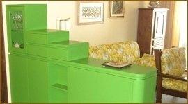 mobile in legno di frassino, mobile divisorio