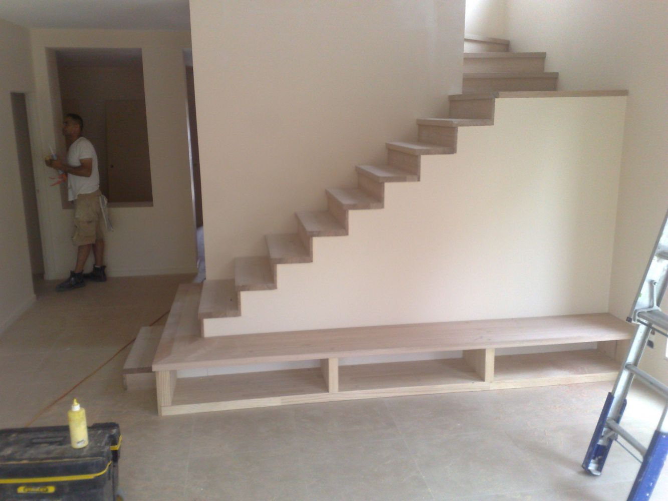 Stairs in progress in Melbourne home