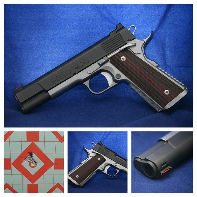 Custom Colt 1911 pistol.