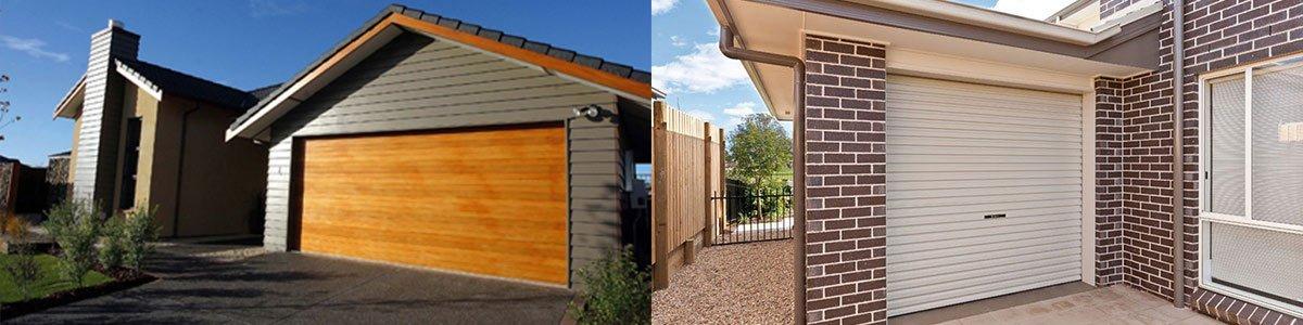 blaxland home services garage with brick pattern