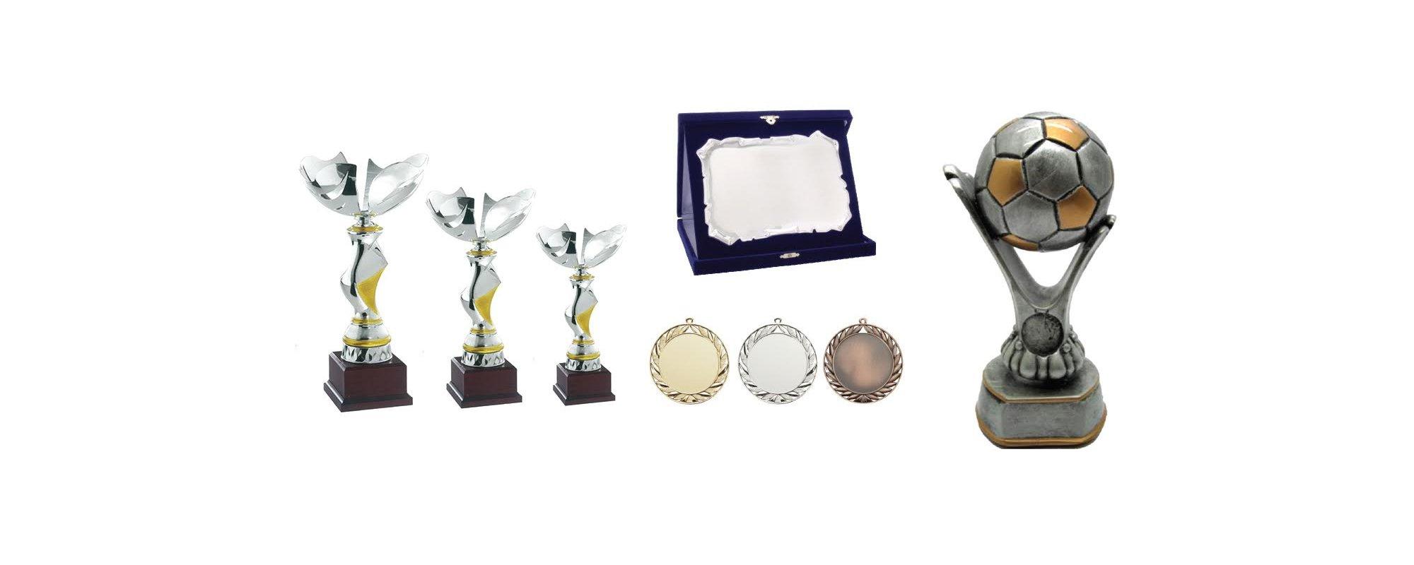 Coppe, medaglie e cornice per attestato