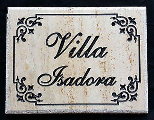 targa Villa Isadora