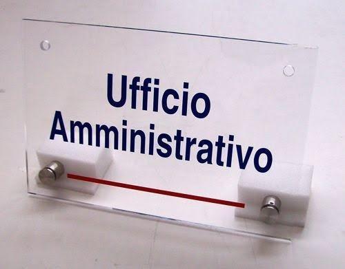 targa ufficio amministrativo