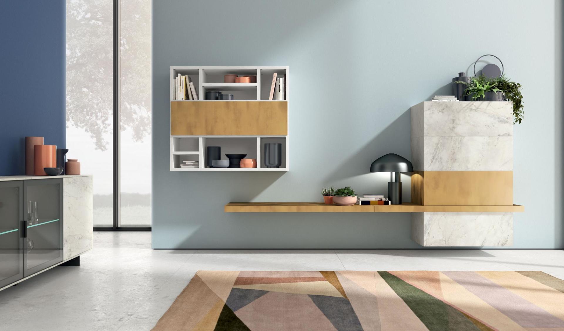 Pareti attrezzate librerie e ingressi castrolibero cs for Pianeta casa mobili