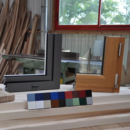 Fenêtres différents matériaux: bois, alu, PVC
