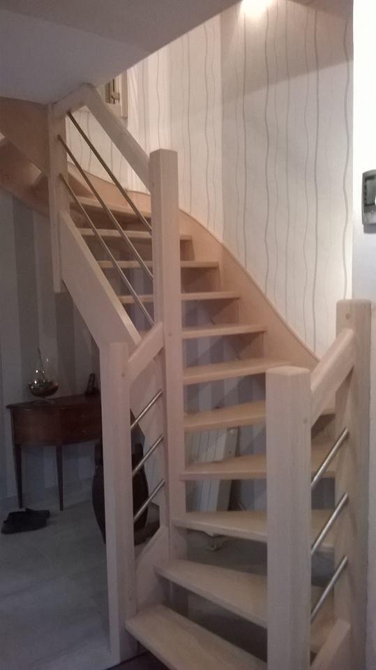 Pose escalier bois