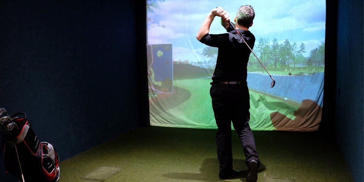 Golf simulator at Golf Bar Leeds
