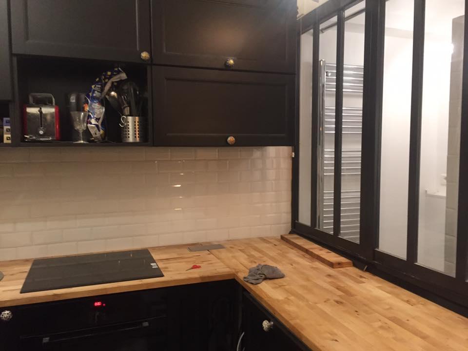 cuisine style atelier finest meuble de cuisine style