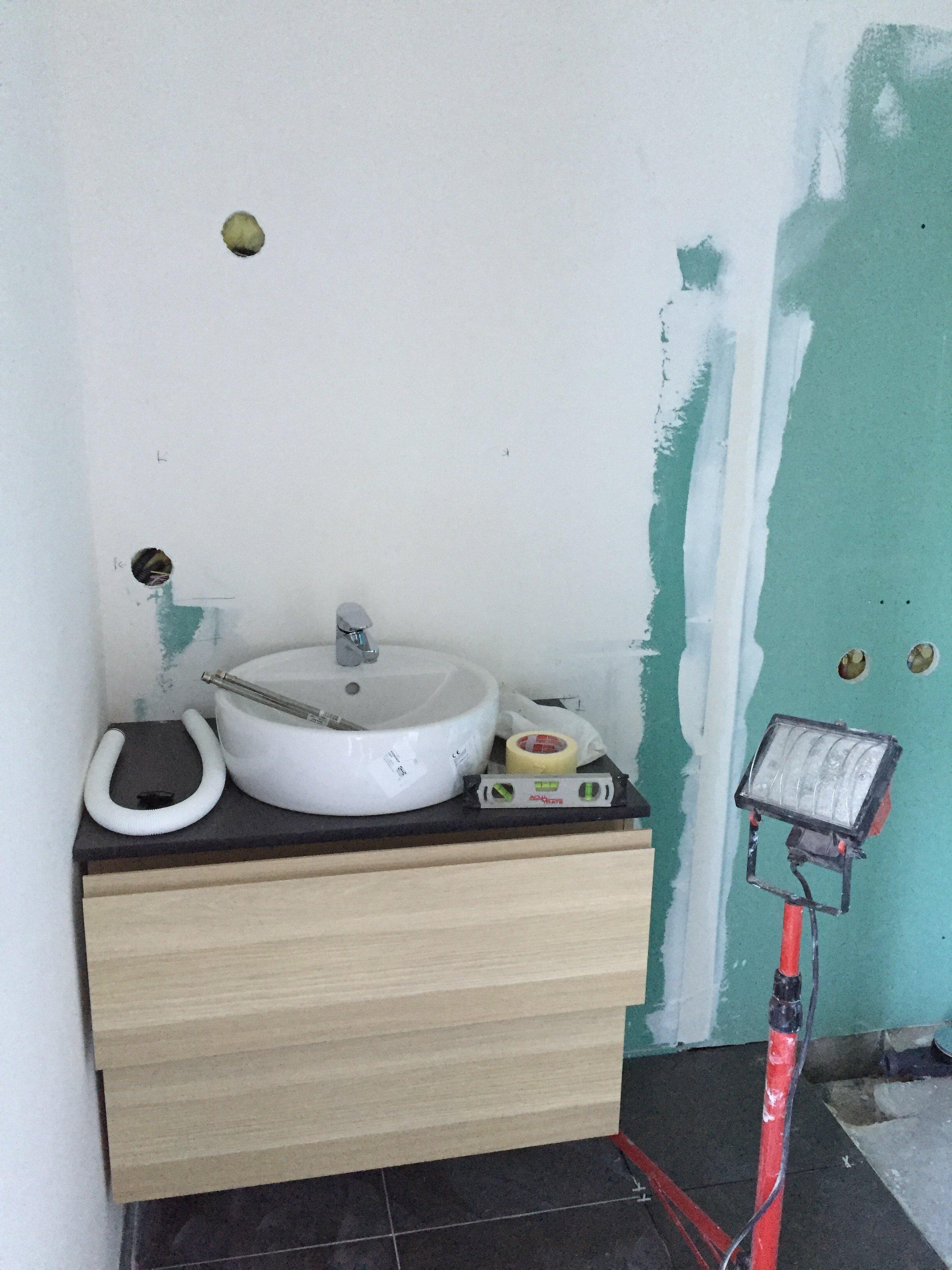 pose placo hydrofuge salle de bain top affordable cloison. Black Bedroom Furniture Sets. Home Design Ideas
