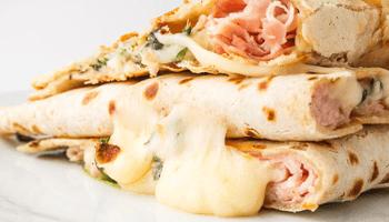 piadina, prosciutto, formaggio, piadina farcita