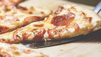 pizza diavola, fetta pizza, trancio