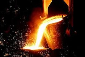 australian foundry institute melting metal in the container