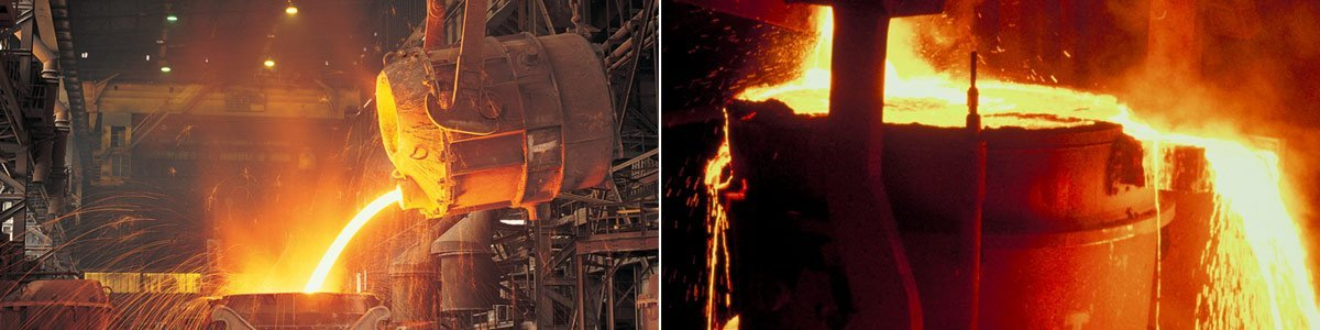 australian foundry institute pouring molten steel into tank